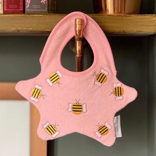 Pink Bumble Bee Bib