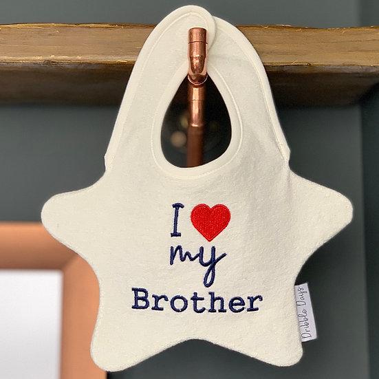 I love my brother bib