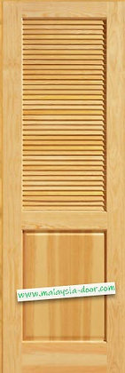 """<39 5/8""""x92 6/8""""> Completed Varnish l Full Solid Full Louvers Door"""