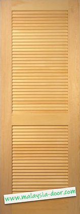 """<33 6/8""""x80""""> Completed Varnish l Full Solid Full Louvers Door"""