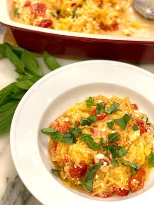Gluten-Free Baked Feta Spaghetti Squash Recipe
