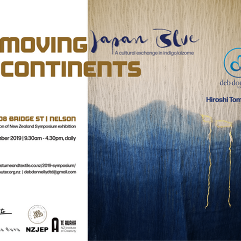 Moving Continents Japan Blue exhibition, Suter Gallery, 26-29 Sep 2019