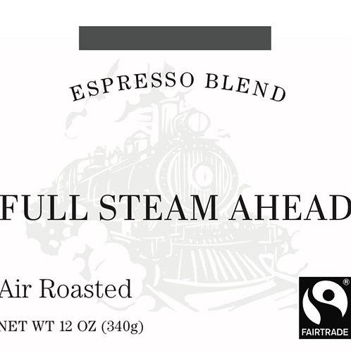 Fairtrade Full Steam Ahead Espresso Blend, 12oz or 5lb bag