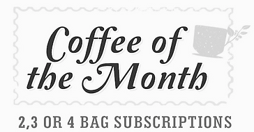 Sure House Coffee Roasting Co. subscription box, coffee of the month club