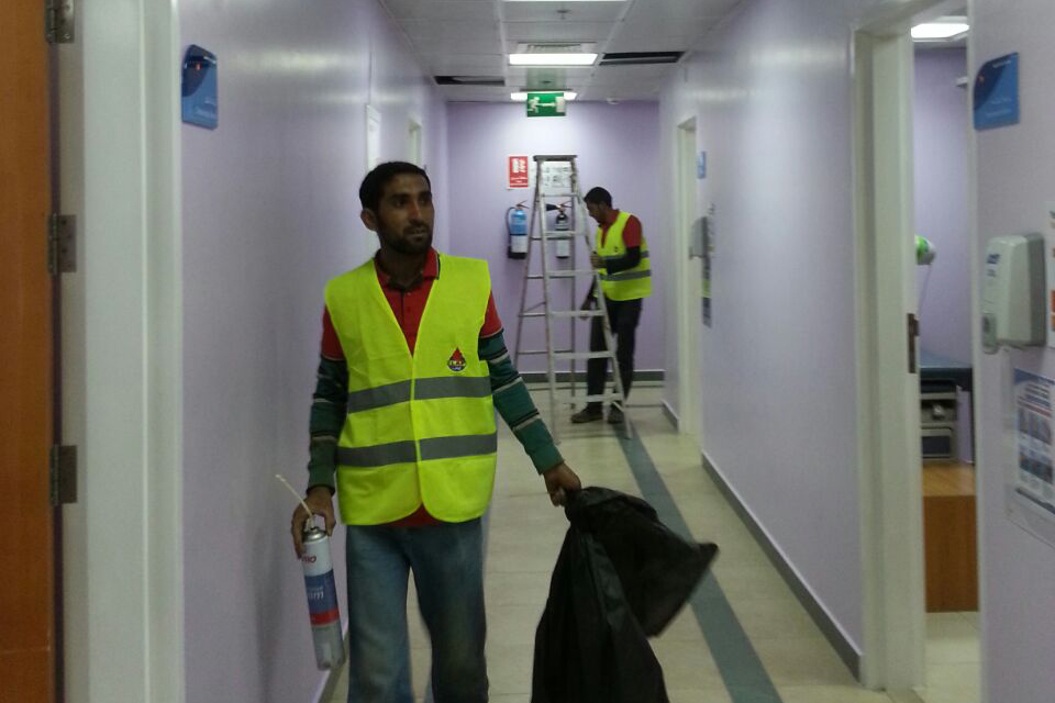 Work going on site 4 (Al Ain Hospital)
