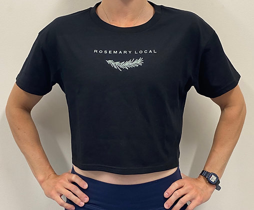 Rosemary Local Black Cropped Tee