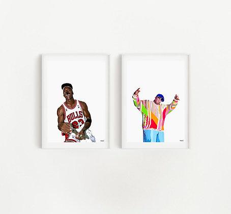 'MJ' & 'Biggy' Set of Two Prints | Bianca Litchfield