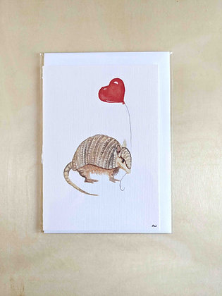 Arniedillo- Greeting Card  | Alice Wilkinson