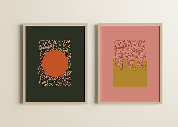 'Sun' & 'Water' Set of Two Prints | Amelia Ghali