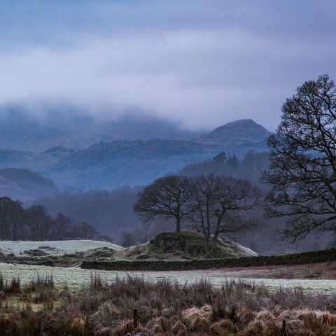 VIEW TOWARDS WETHERLAM ON A WINTERS MORNING