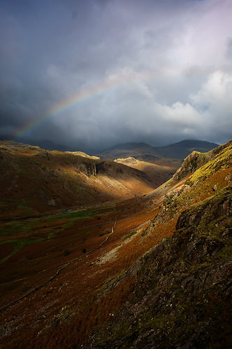 AUTUMN RAINBOW ESKDALE VALLEY