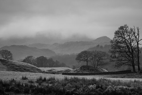 VIEW TOWARDS WETHERLAM ON A WINTERS MORNING MONO