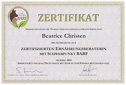 Zertifikat Barfberater