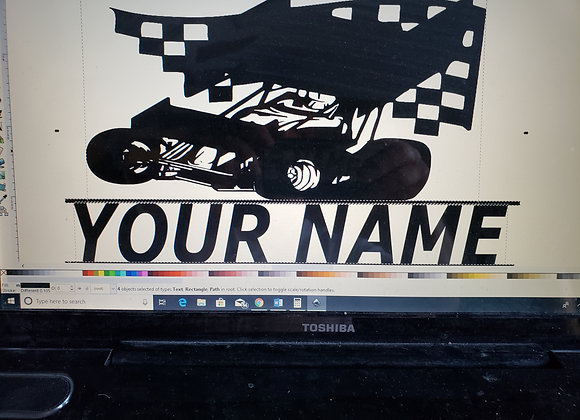 Sprint car name wall art