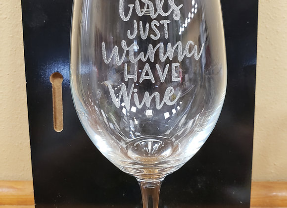 Wine Glass with stem