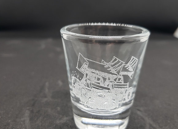 Shot glass engraved