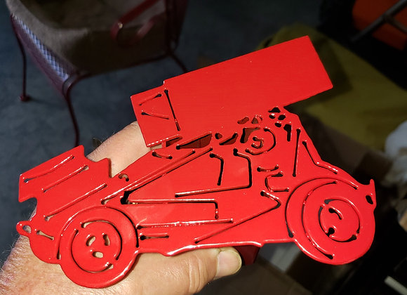 Sprint car trailer hitch cover,,two designs,,