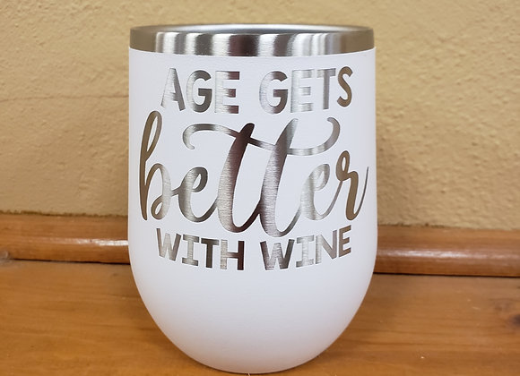 Insulated stemless wine cup