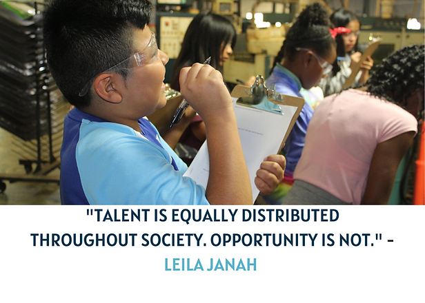 _TALENT IS EQUALLY DISTRIBUTED THROUGHOU
