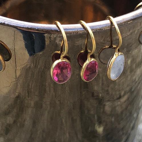 Mini pink dangler earrings