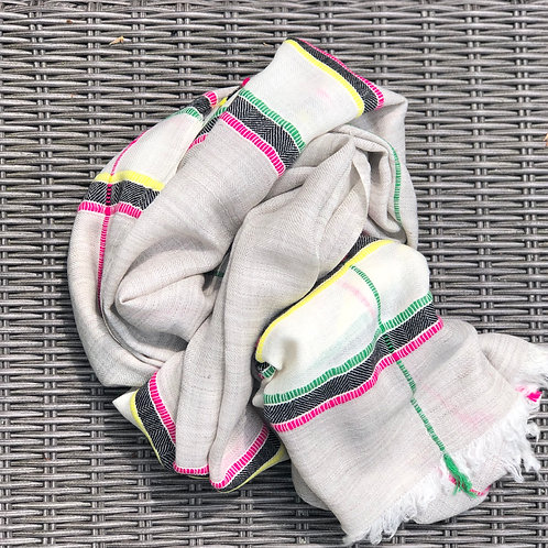 Oatmeal cashmere/yak blend scarf