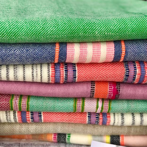 Cashmere/yak blend scarves
