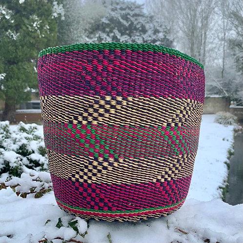 Pink waste basket