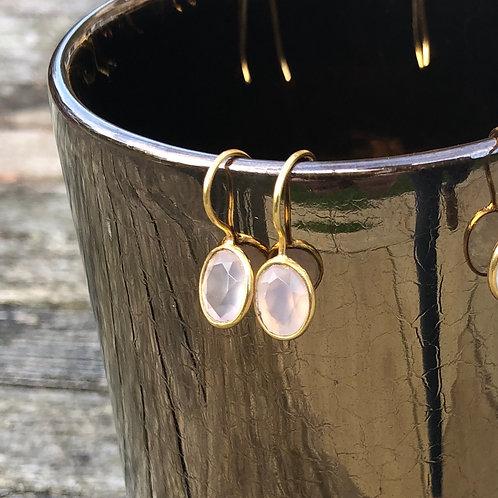 Mini Rose Quartz earrings