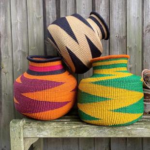 Zig Zag woven baskets