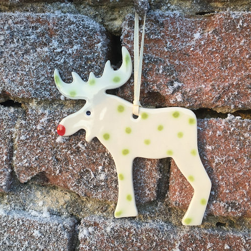 Lime porcelain reindeer
