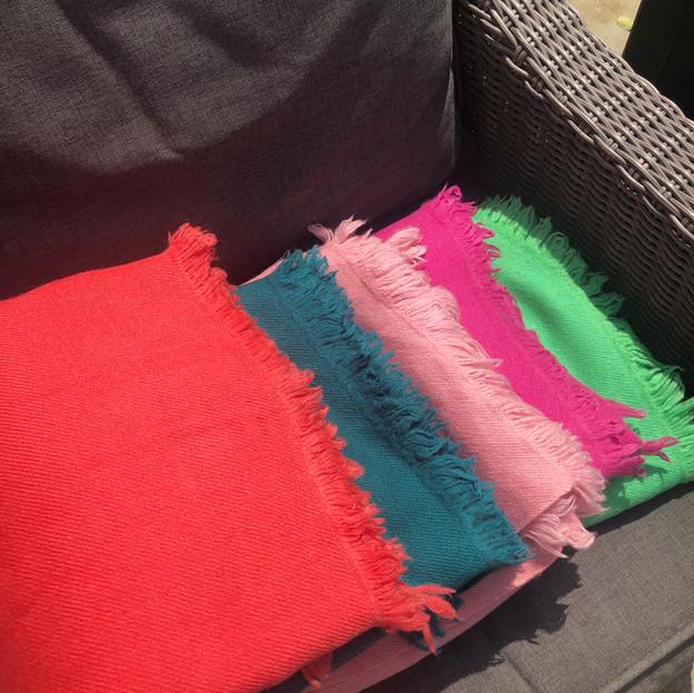 Handwoven yak wool blankets