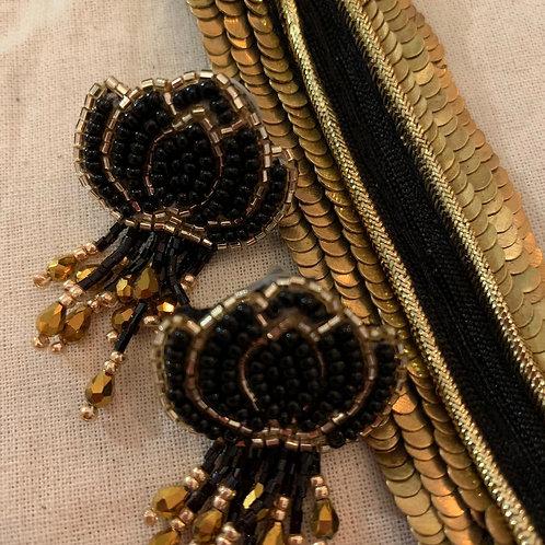 Cuff bracelet - Black and Gold