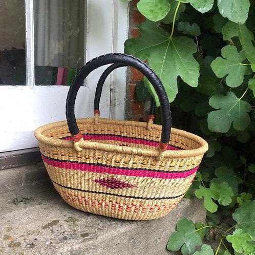 Oval basket Pink