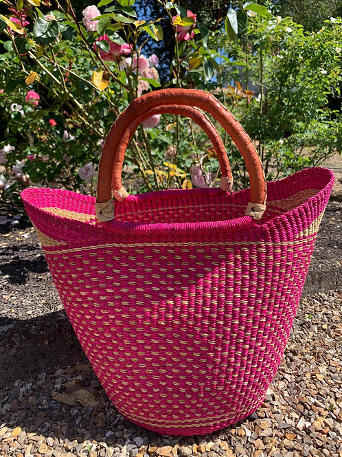Market bag Pink (pink lip)