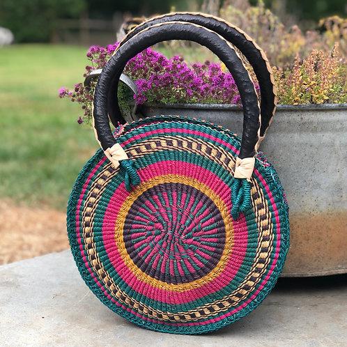 Circular woven bag