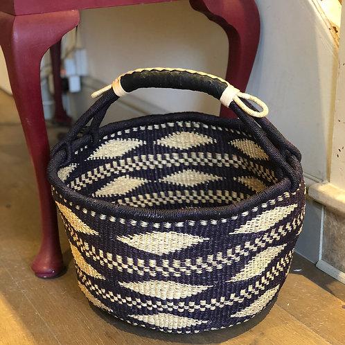 Large  Black and White Bolga Basket