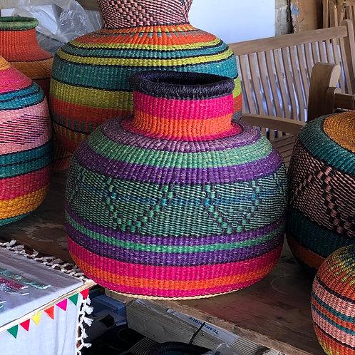 Large woven basket - purple
