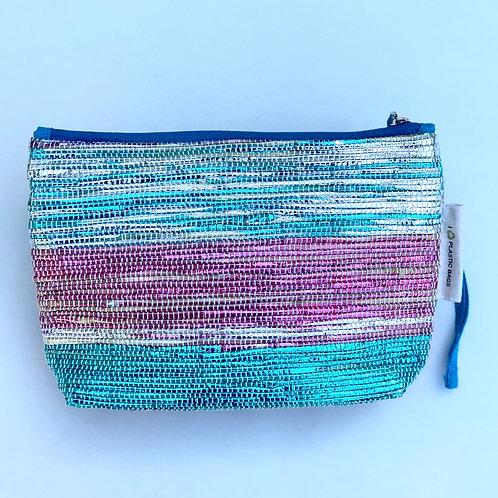 Pink/Green make up bag/clutch