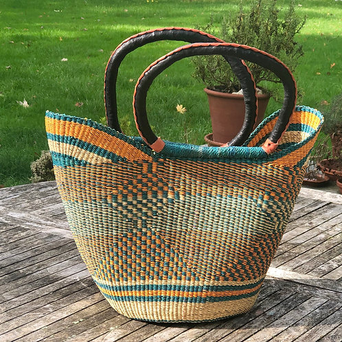 Market bag Orange and teal
