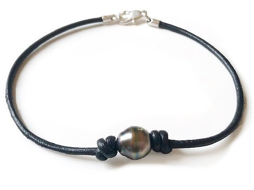 Tahitian Pearl Leather Bracelet