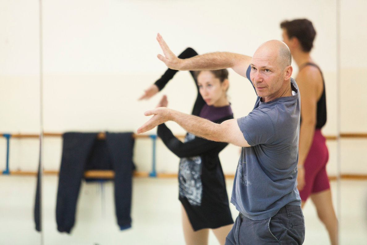 Elie Lazar in rehearsal with Ballet Ness