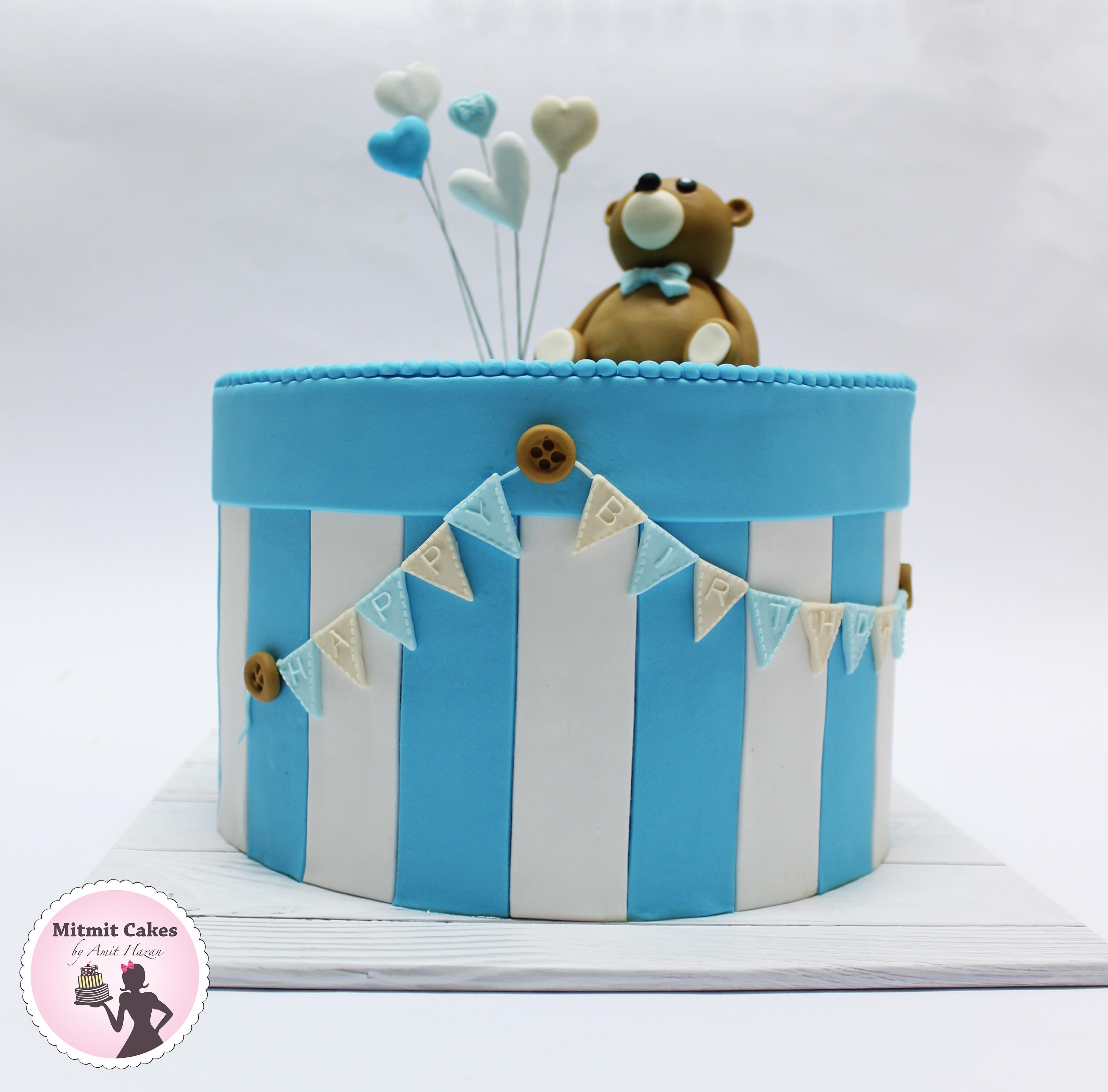 עוגה עם דובון