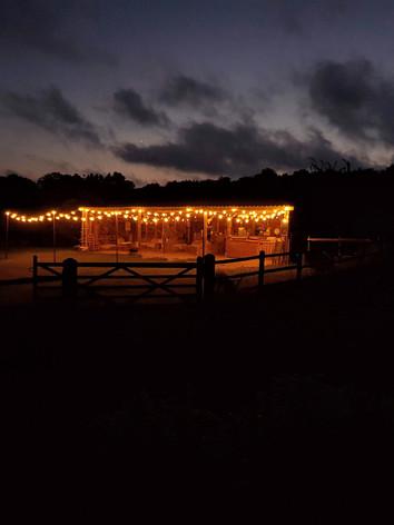 Farm Barn at Night