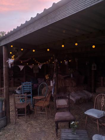 Atmospheric Barn Lighting