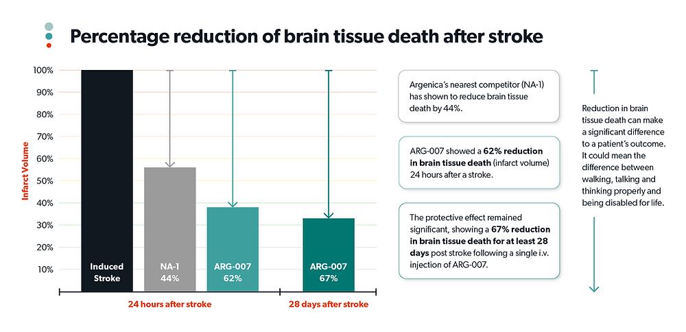 ARG-007 Reduces Brain Tissue Death