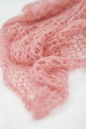 Wrap mohair rose