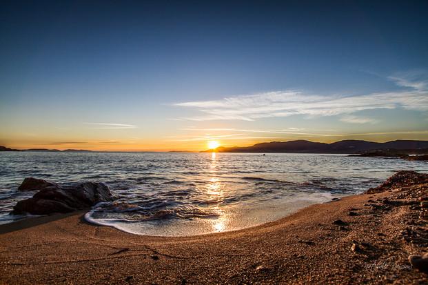 Coucher de soleil sur le sentier du littoral