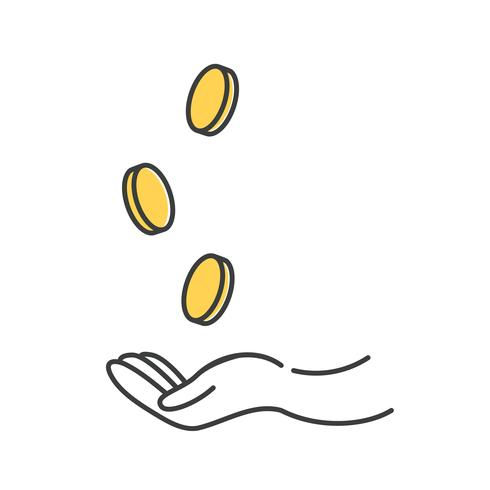 make-money-icon-gold-dollar-coin-with-ha