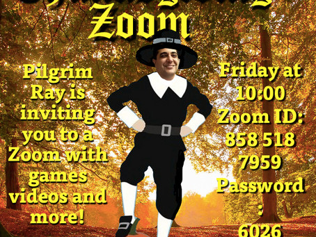 Thanksgiving Zoom Party, Friday, November 20th!