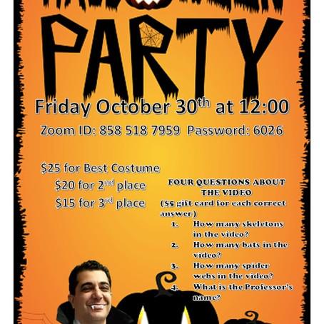 Halloween Party Tomorrow!